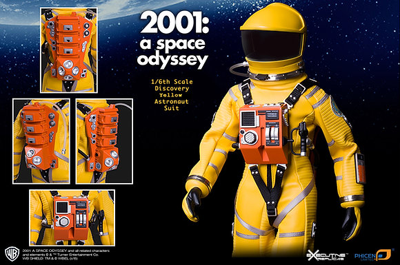 2001: A SPACE ODYSSEY: 1/6TH SCALE YELLOW DISCOVERY ASTRONAUT SUIT (No FIGURE)