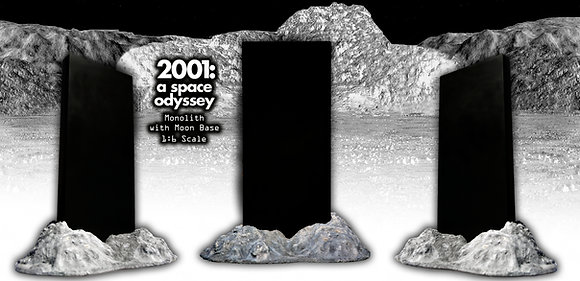 2001 A SPACE ODYSSEY 1/6TH MONOLITH/MOON BASE