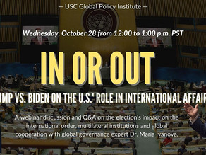 In or Out: Trump vs. Biden on the U.S.' Role in International Affairs