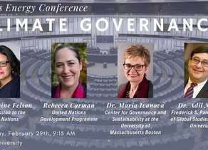 Tufts Energy Conference featured Dr. Ivanova on the Climate Governance Panel on February 29.