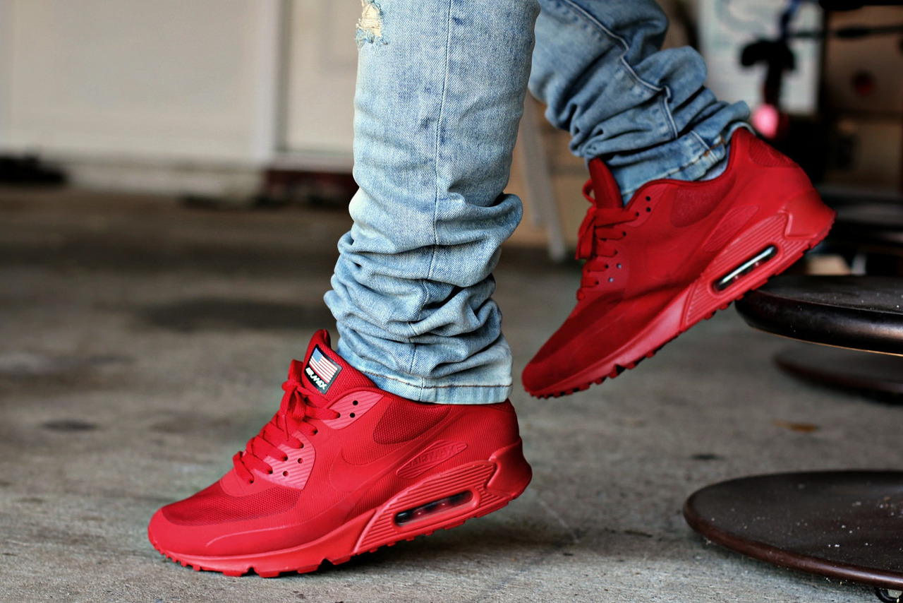 New' Nike air max 90 independence day hyperfuse QS RED ...