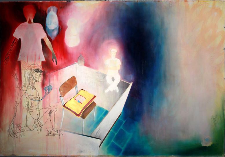 ISENAC, mixed media on canvas, 215x310 c