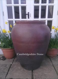 Iron Stone Olive Jar Garden Planter.png
