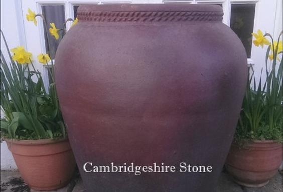 Iron Stone Olive Jar Garden Planter