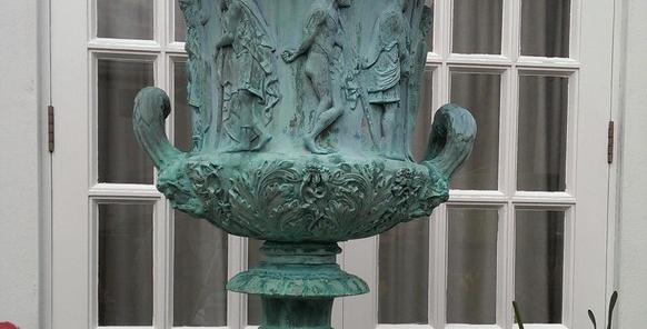 Verdigris Bronze Medici Urn