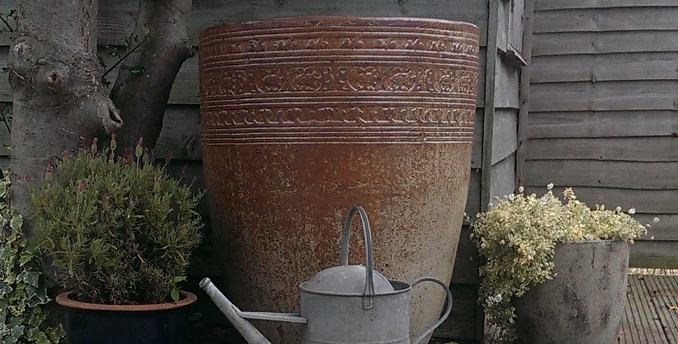 Large Antique Creme Crucible