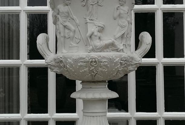 Cast Marble Medici Urn