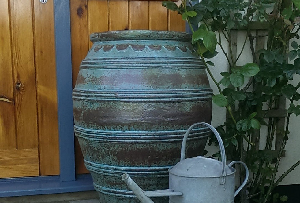 Antique Blue Olive Jar