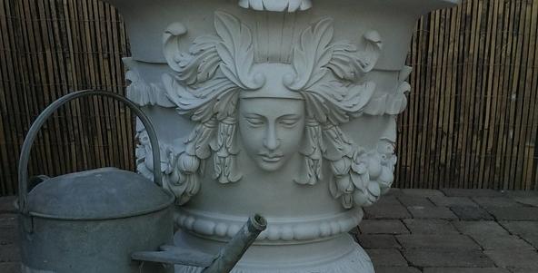 Large Cast Marble Venus Vase