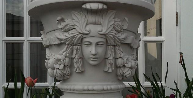 Cast Marble Venus Vase