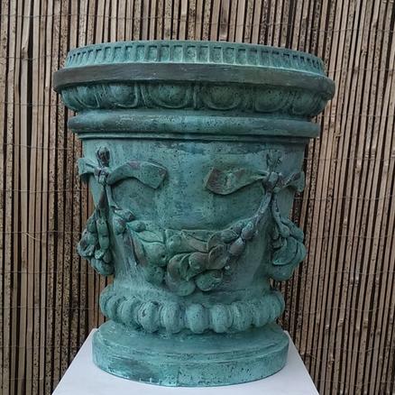 Verdigris Bronze Fuit Swag Vase.png