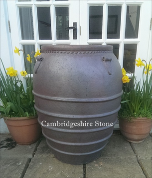 Ribbed Iron Stone Olive Jar.png