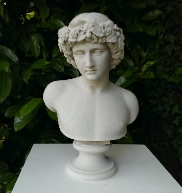 Cast Marble Bust of Antinous.png