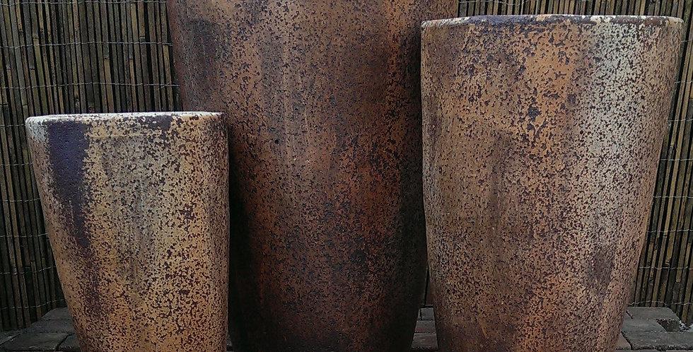 Large Antique Rust Crucible