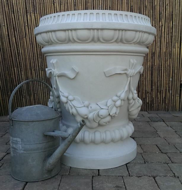 Large Cast Marble Fruit Swag Vase.png