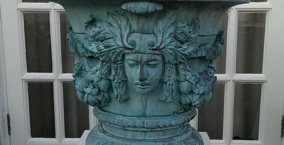 Verdigris Bronze Venus Vase