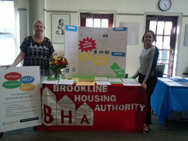 BHA booth at the Brookline Senior Center's Annual Meeting