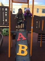 Newly built playground at Trustman Apartments