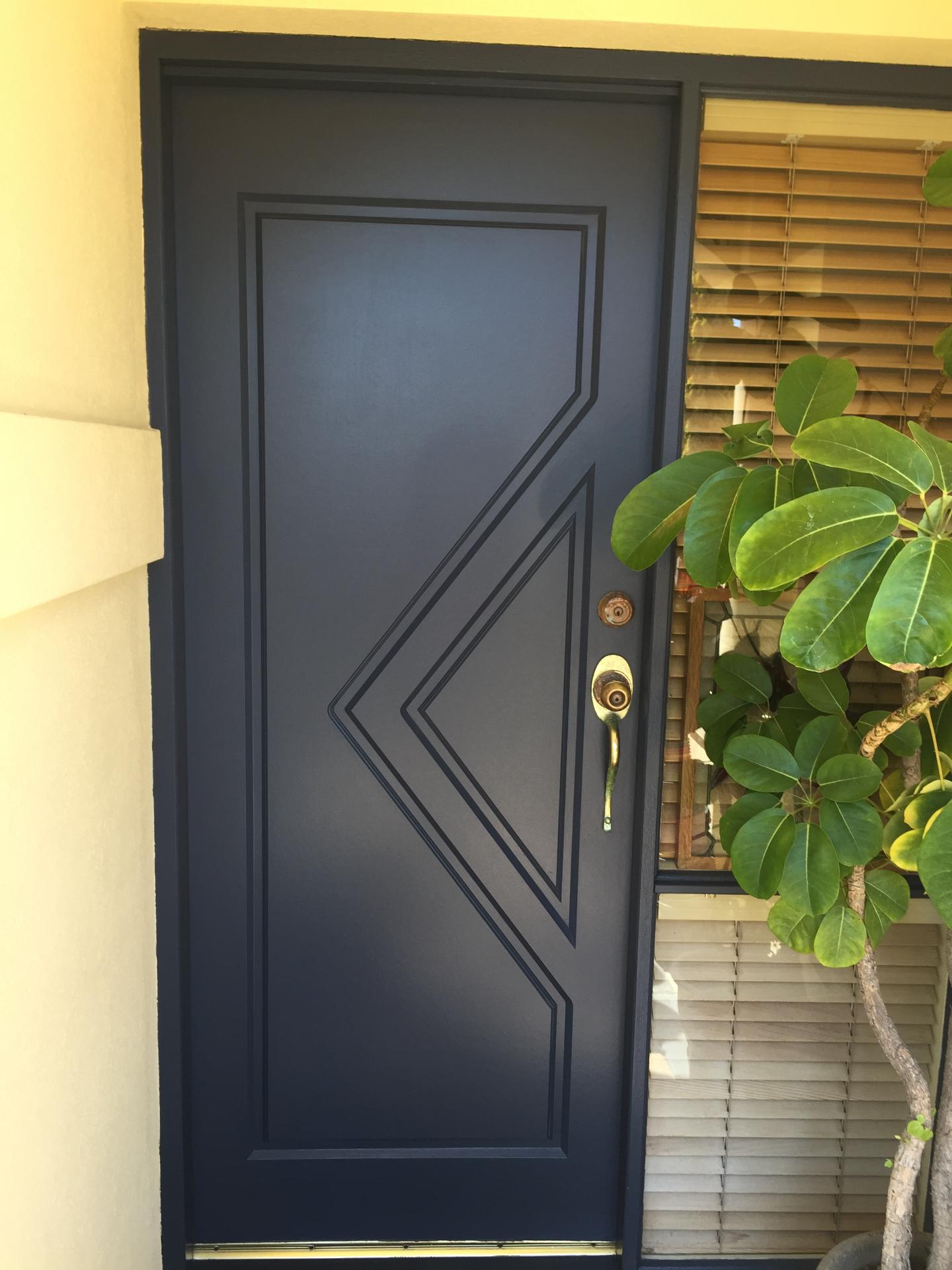 Front door - after painting