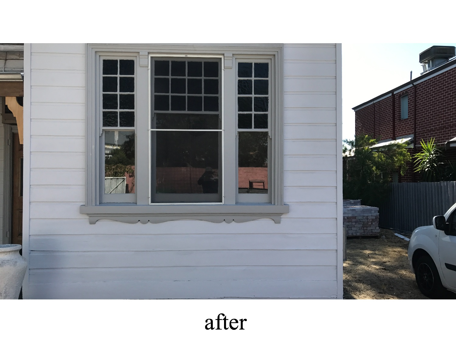 weatherboards window frame painter