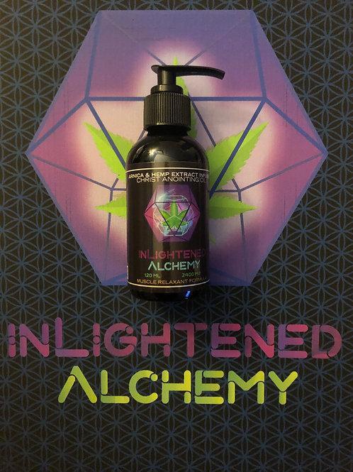 2400mg Spagyric Hemp Extract & Arnica Infused Massage Oil 4 Oz pump bottle