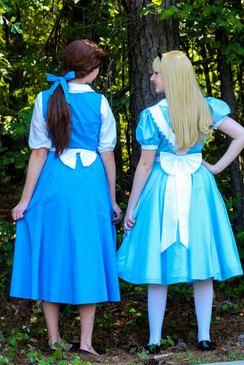Blue Village Dress