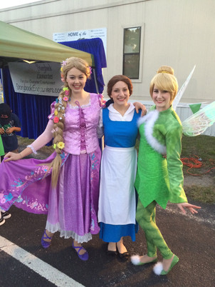Rapunzel, Beauty, and Tinker Fairy
