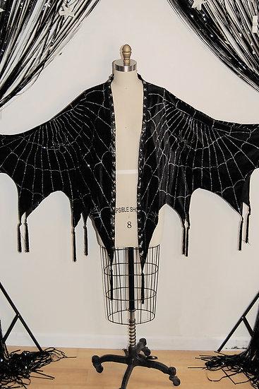 I Am the Night Spiderweb Cloak - mini
