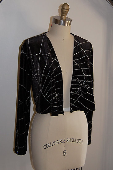 Glitter Spiderweb Open Cardigan