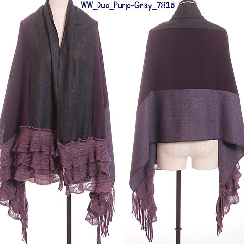 WoolieWrap 7815 Duo-Tone Purple-Gray