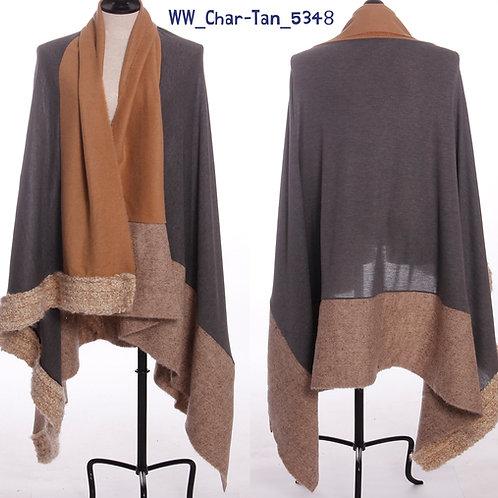 WoolieWrap 5348 Duo-Tone Charcoal-Tan