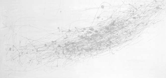 Wind Drawing 16.10.2017 - Wind through the Great Oak, 45mph south south westerly, 297 minutes