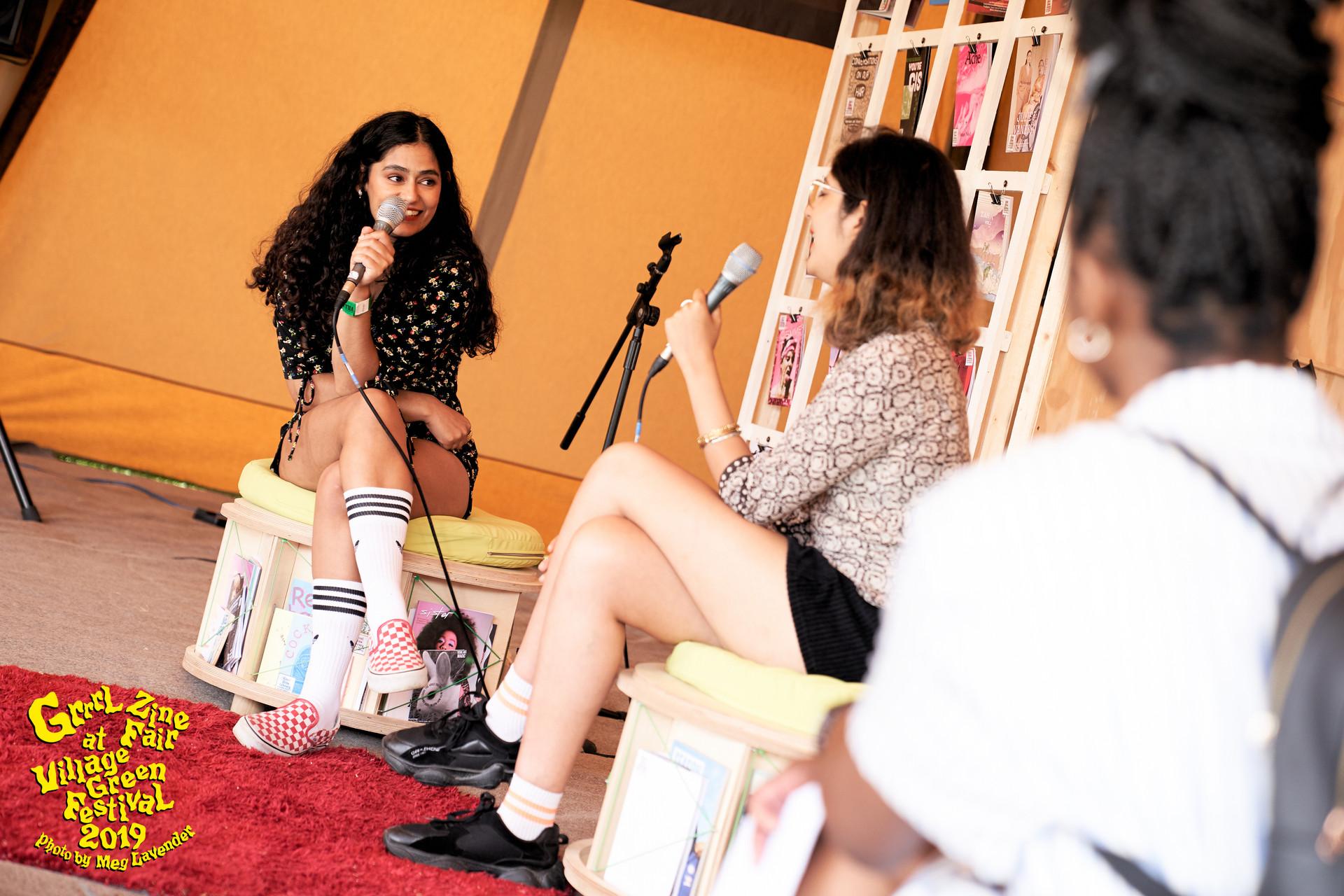 Nadia Talk Grrrl Zine Fair at Village Gr