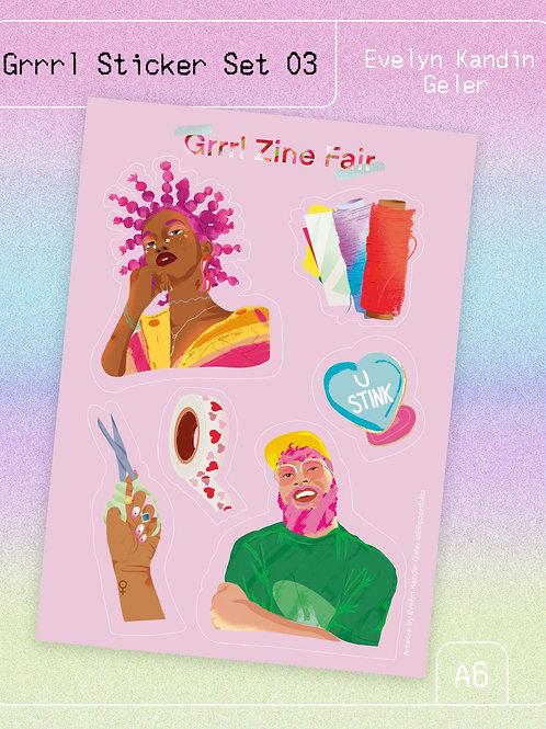 Grrrl Sticker Set 03