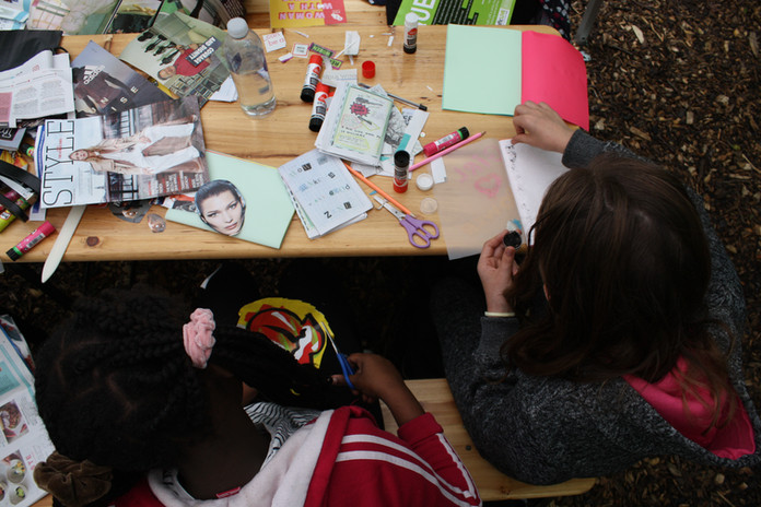 Zine workshop at Phytology with Bow Arts Trust