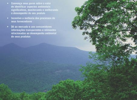 Novo folheto - Comunicação com declarações ambientais está disponível em português