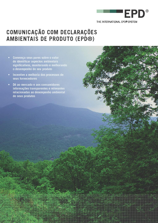 f1e2aecdb Novo folheto - Comunicação com declarações ambientais está disponível em  português