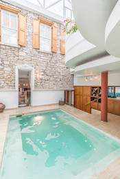 Heated Indoor Pool for Relaxing