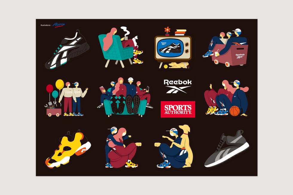 Reebok sportsauthority Sticker Design