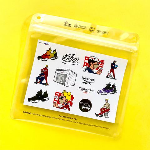 Reebok Corners Sticker Design