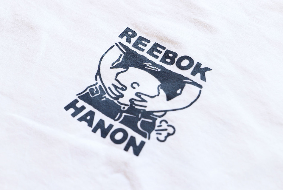 HANON × Reebok Classic collaboration Tee's Design