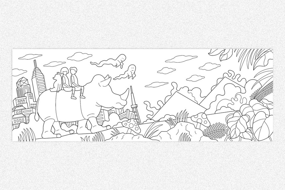 Rimo | The Northface 塗り絵デザイン