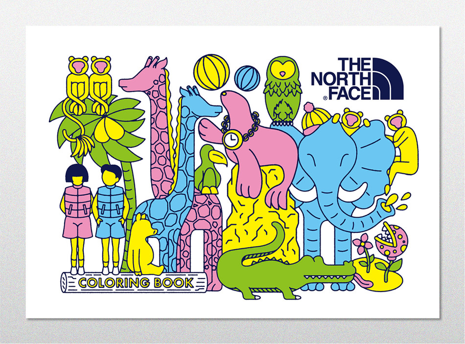 the northaface coloring book