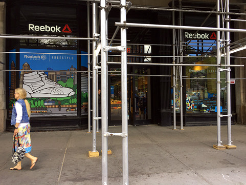 Window Designs for Reebok Store in NYC