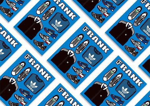 FRANK & adidas Book Cover Design