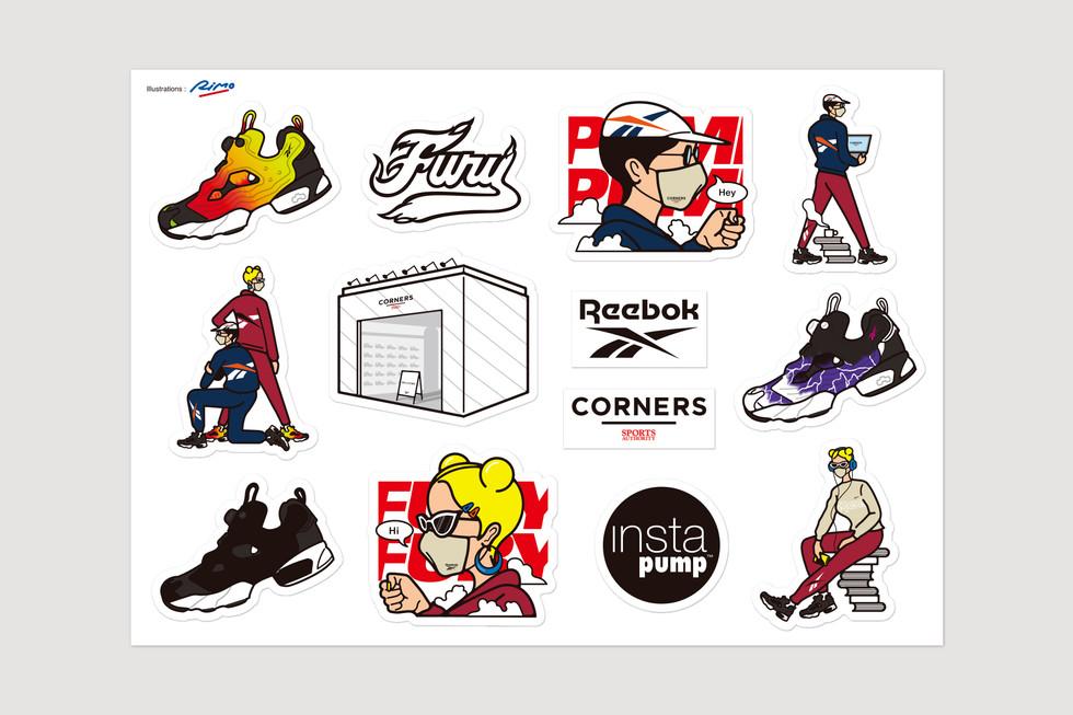 Reebok × Corners Sticker Design