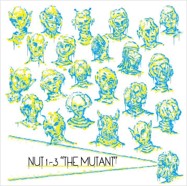 NUT 1-3 / THE MUTANT Cover Design