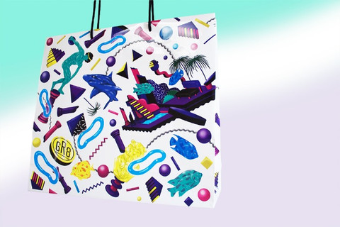 Textile & Shoppin bag Design for GR8 Shop