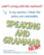 speaking and grammar