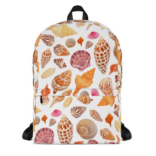 Backpack - Seashells of SWFL - White